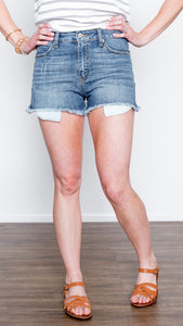 Side Slit Peek A Boo Pocket Shorts