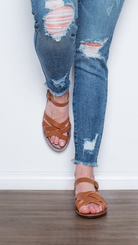 The Sadie Summer Sandal- Tan