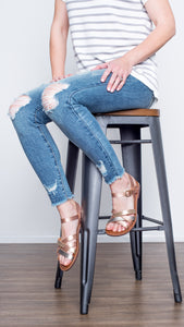 The Sadie Summer Sandal- Rose Gold
