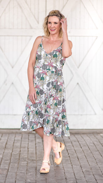 Descanso Gardens Floral Dress