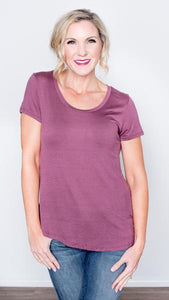 Basic Babe Scoop Neck Tee- 7 Colors!