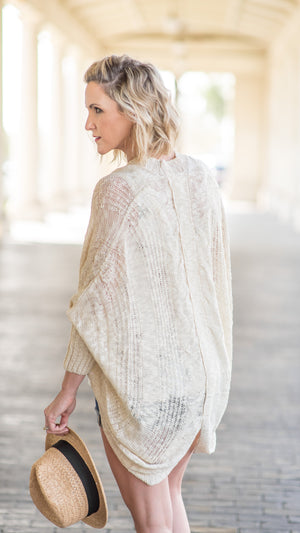 Natural Colored Cocoon Sweater
