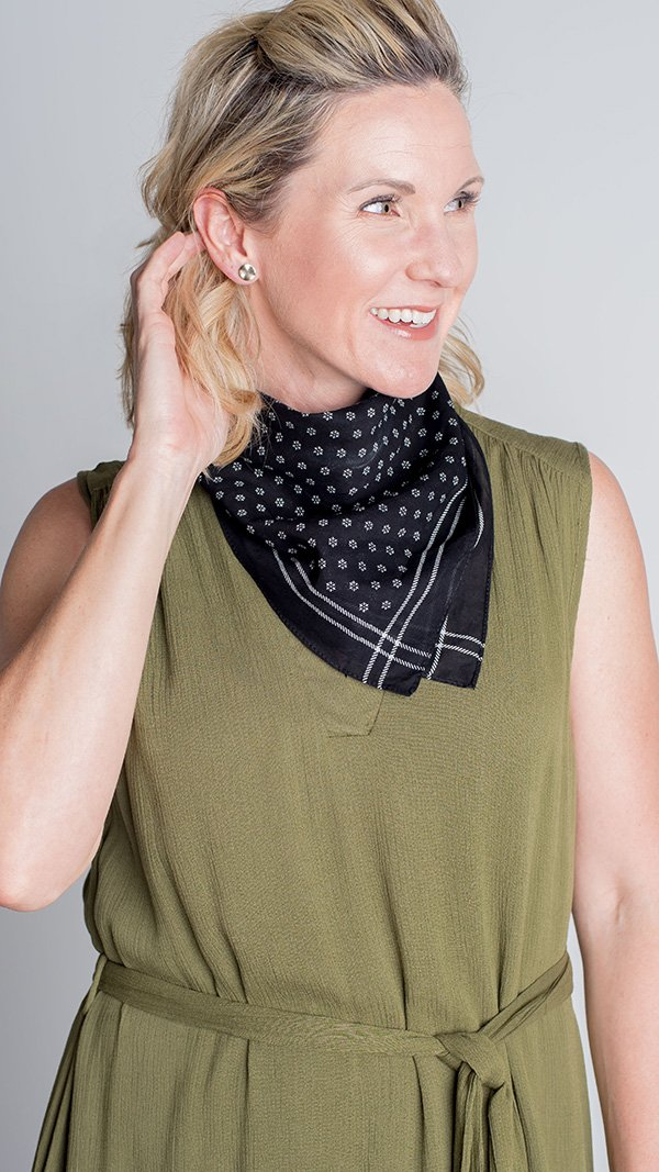 LBC Lush Sept- Dot Black Neck Scarf