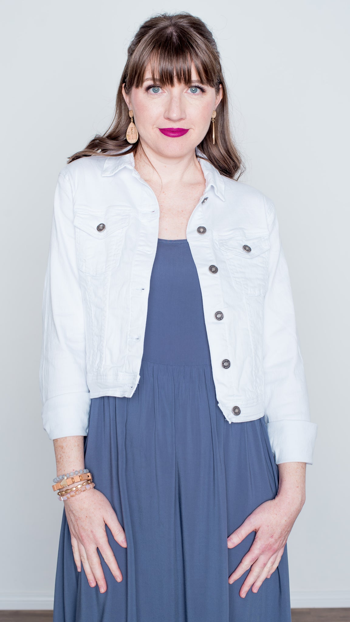 Essential White Denim Jacket