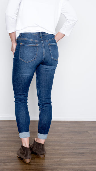 Sheila Cuffed Skinny Dark Denim
