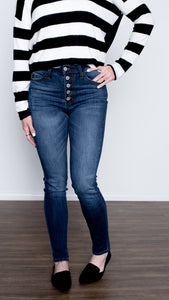 Tracey Button Up the Front Jeans- Curvy Fit