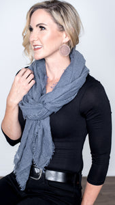 Fall into Me Fringe Scarf- 4 Colors!