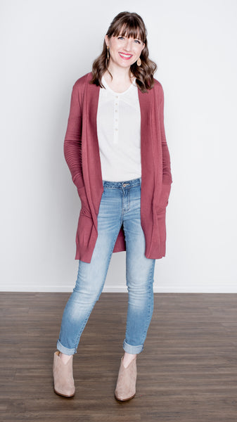 Delany Red Bean Cardigan