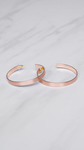 Rose Gold Large Flat Earrings