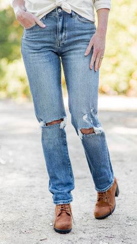 The Boardwalk High Rise Straight Leg Jean