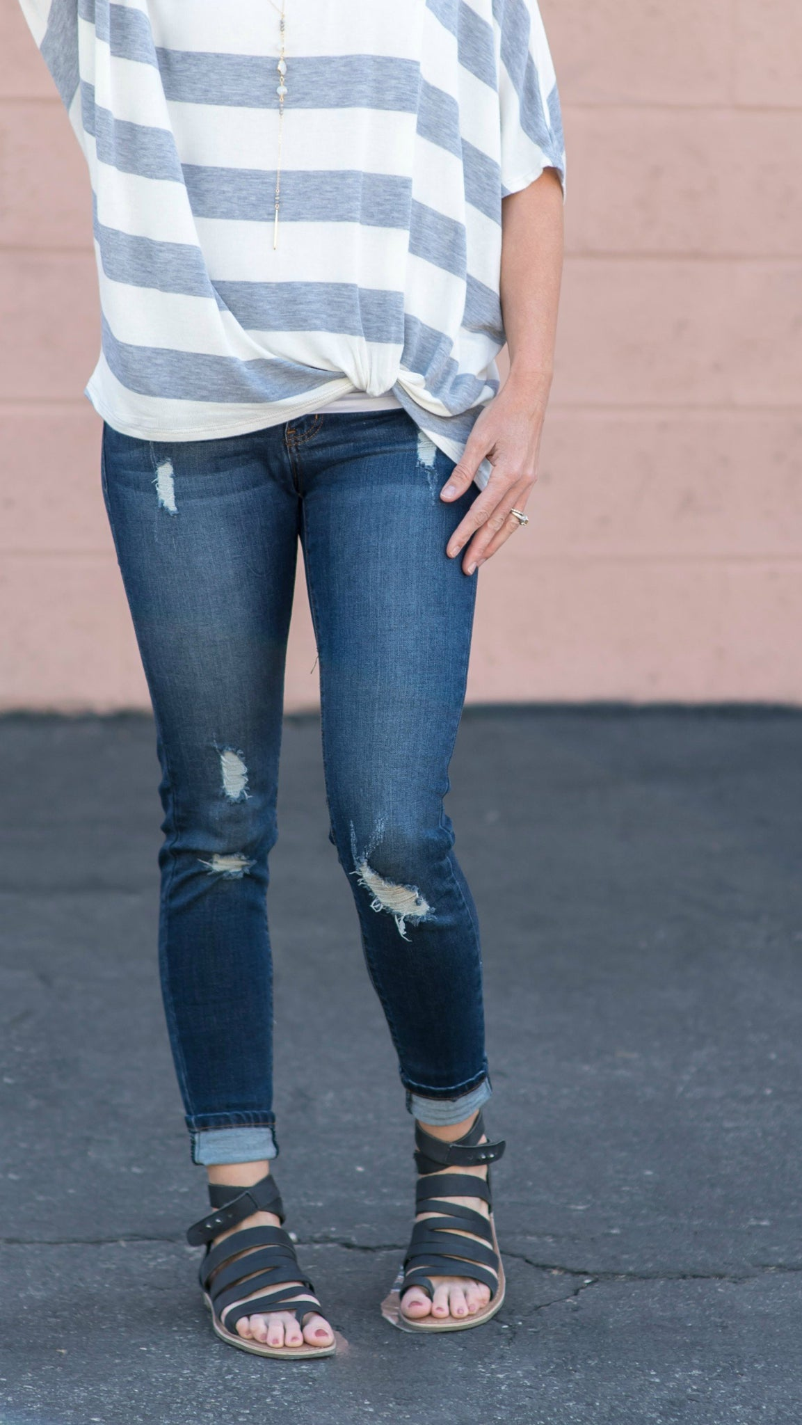 The Katie Distressed Skinny Jean