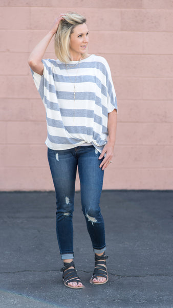 The Summer Stripes Batwing Top
