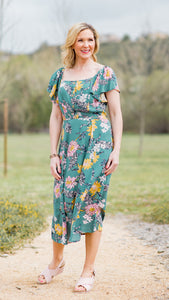 The Julia Back Smocking Floral Dress