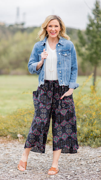 Midnight Sway Wide Leg Pant