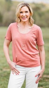 Essential Scoop Neck Top-2 Colors!