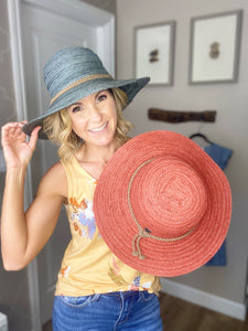 RESTOCKED!! Paint The Sky Summer Straw Beach Hat- 2 Colors!