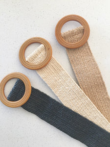 Essential Stretch Round Buckle Belt- 3 Colors!