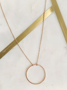 Circle Gold Necklace