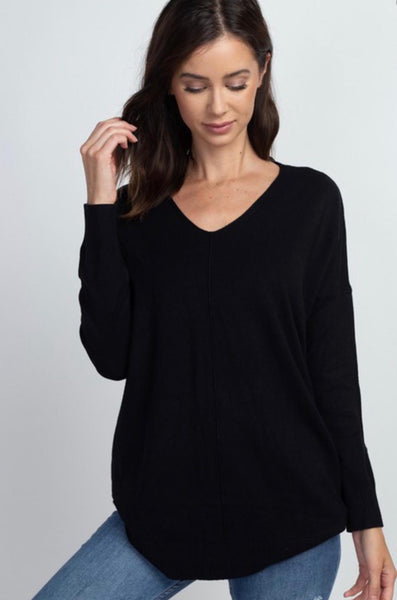 Fall Dreamers V Neck Slouchy Tunic Pullover- 3 Colors!