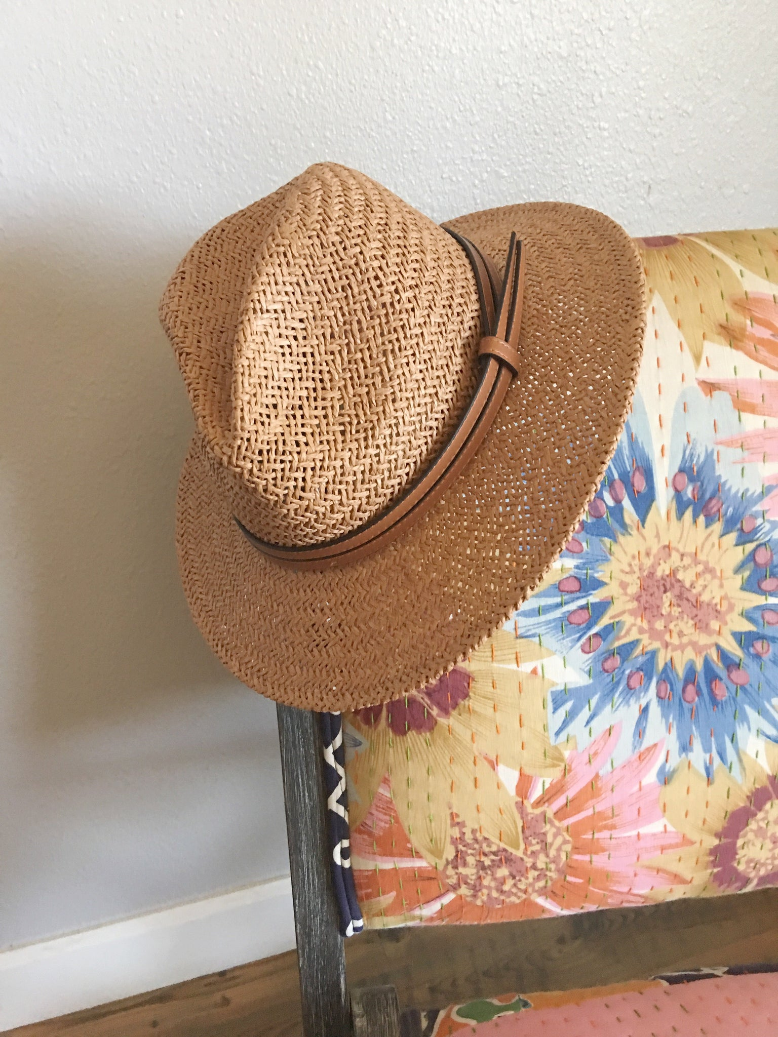 Woven Wide Brim Hat in Fawn