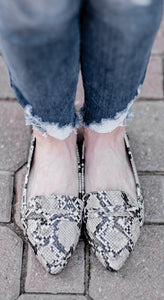 Essential Babe Fall Flats- Snakeskin