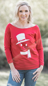 Build Me a Snowman Slouchy Sweatshirt- 2 Colors!