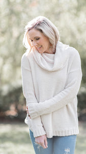 Essential Babe Super Soft Velvet Cowl Neck Top