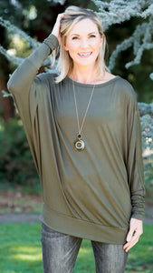RESTOCKED!!! Essential Babe Dolman Sleeve Top- 4 Colors!