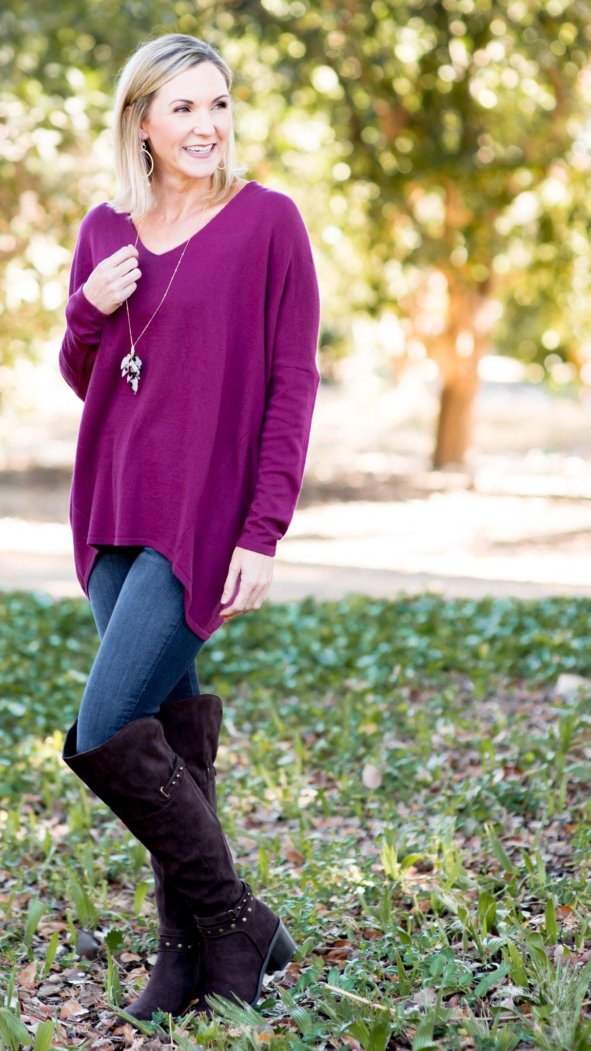 For Everyday Pullover Tunic Sweater Top