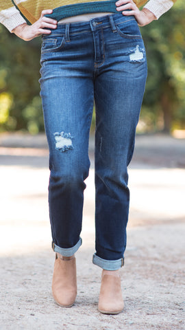 Samantha Slim Fit Taper Boyfriend Jeans