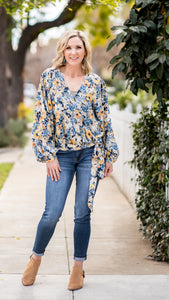 The Lela Boho Tie Blouse