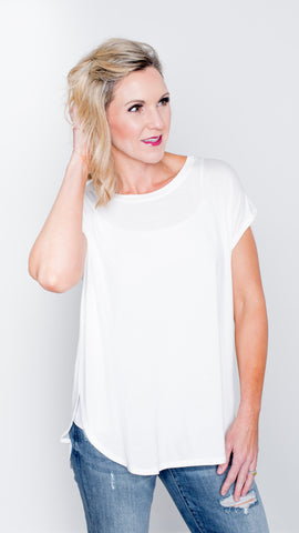 The Perfect Day Tee in Ivory