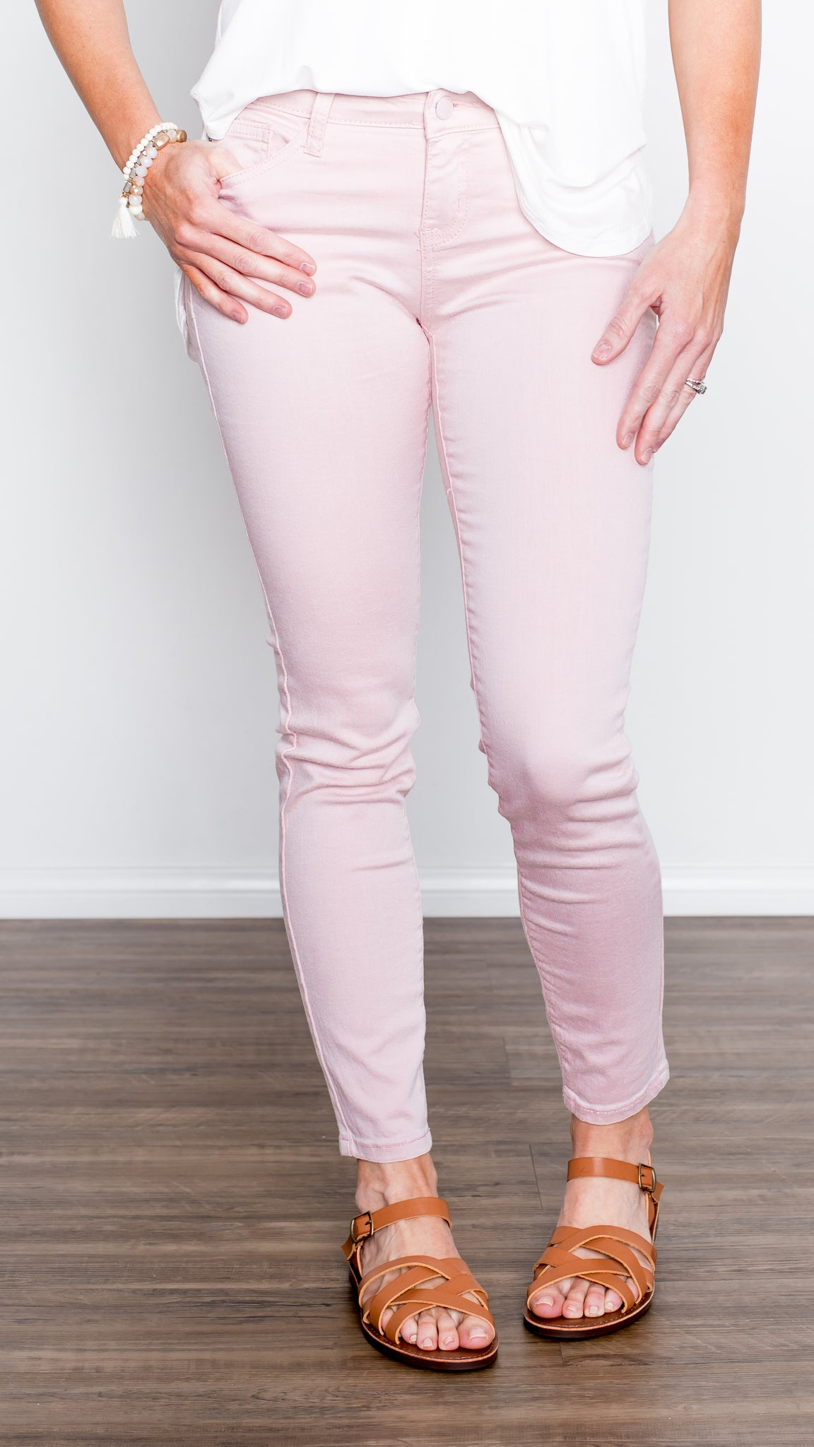 The Rosa Pale Pink Stretch Skinny Jean