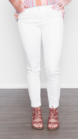 Non-Distressed White Skinny Jean