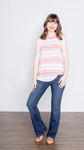 The Lara Stretch Mid Rise Bootcut Jean