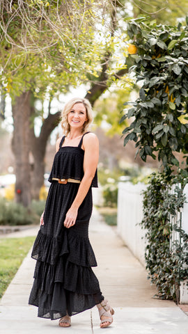 Collin's Maxi Tired Dress - Black