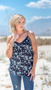 White Bloom Ditsy Flower Tank Top