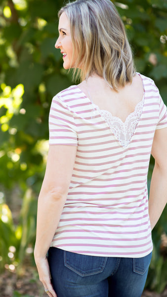 Short Sleeve Lace Top-2 Colors!