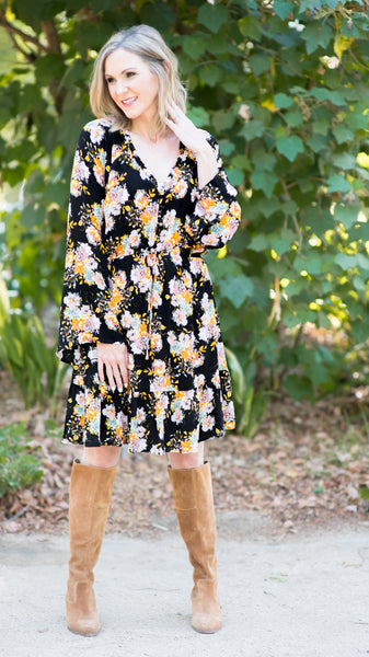 PRE-ORDER ITEM!! Colorado Springs Bell Sleeves Dress
