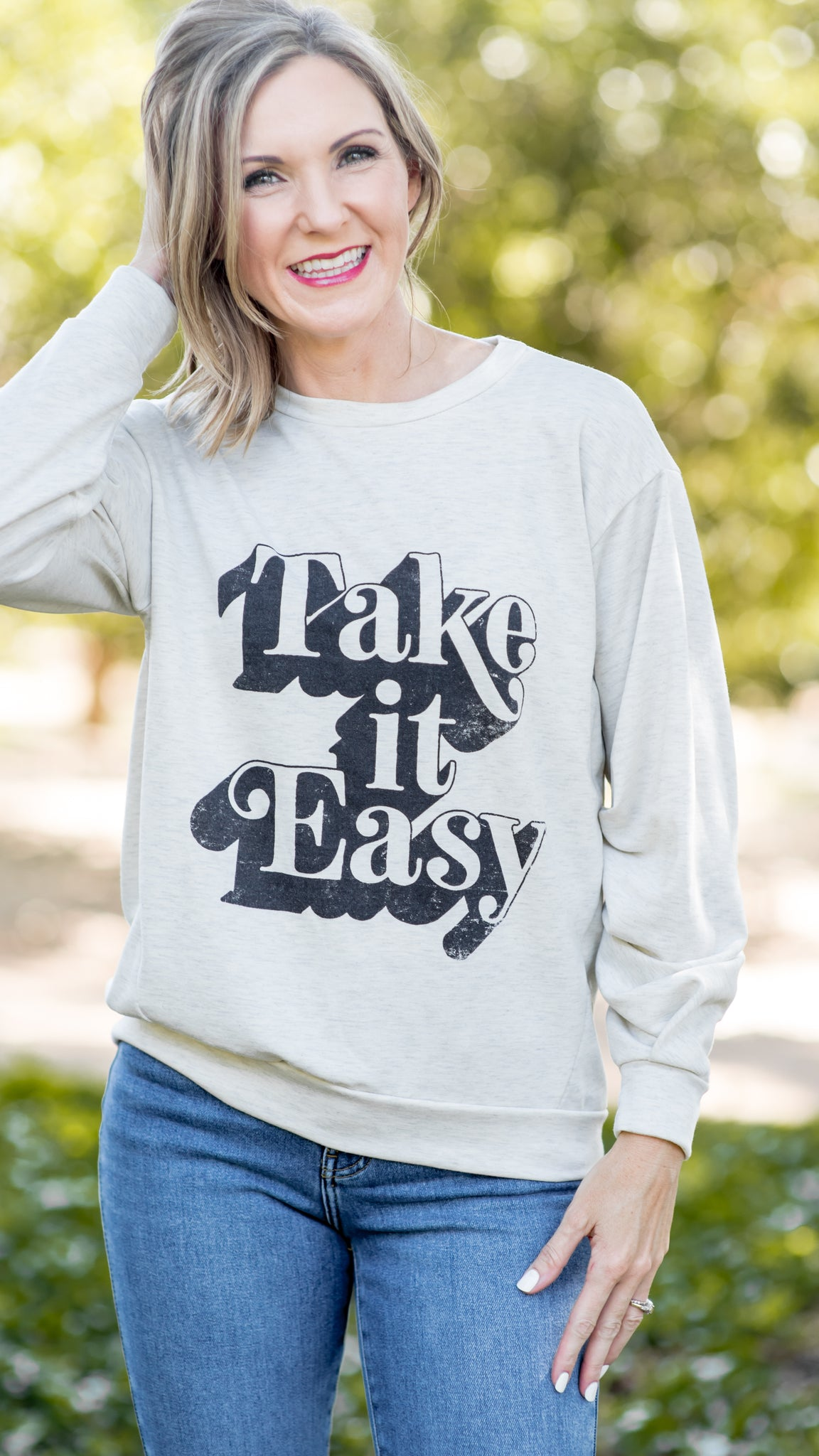 Take It Easy Graphic Sweatshirt