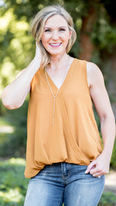 Fall Basic Babe V Neck Twist Tank- 3 Colors!