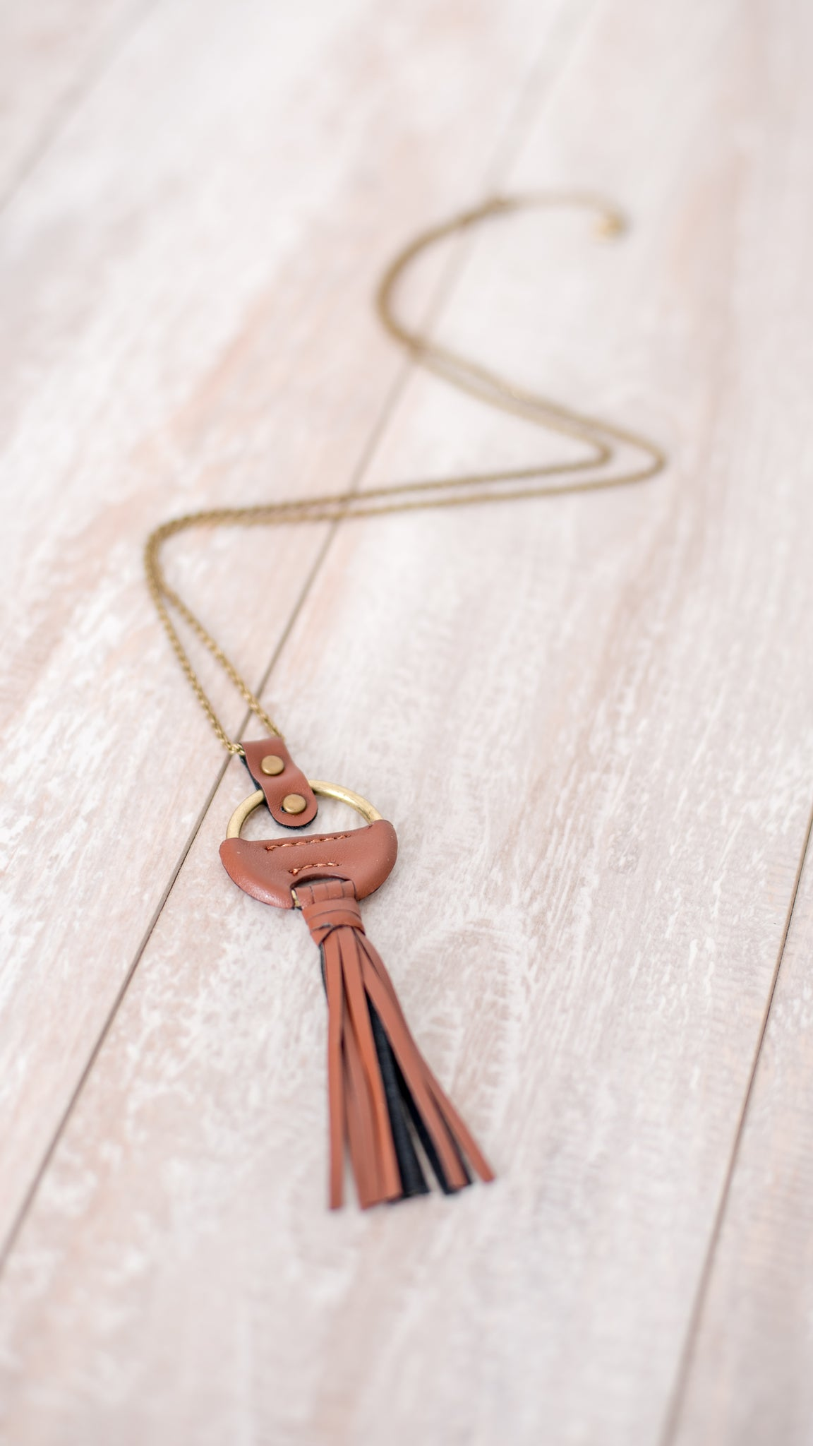 Rustic Tassel Necklace - Gold