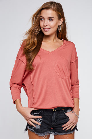 Dusty Coral Batwing Top