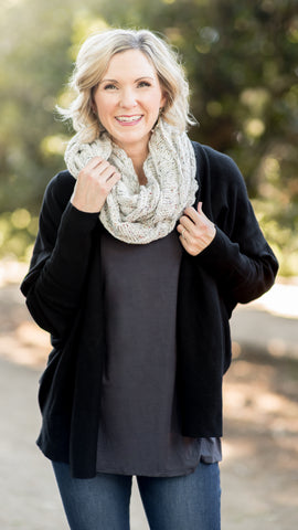 Confetti Knit Cable Infinity Scarf- 3 Colors!