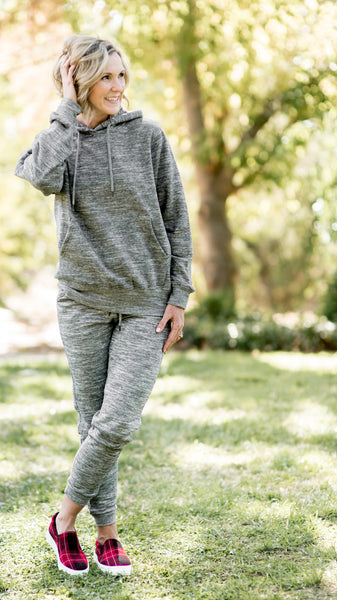 Taking Time Heathered Jogger Set- 2 Colors!