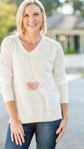 Essential Babe V-Neck Pullover Sweater-3 Colors!