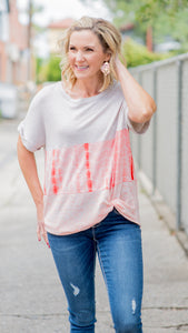 Let's Groove Tye-Dye Colorblock Top