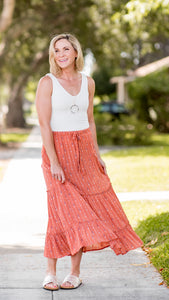 Sunburst Swiss Dot Maxi Skirt