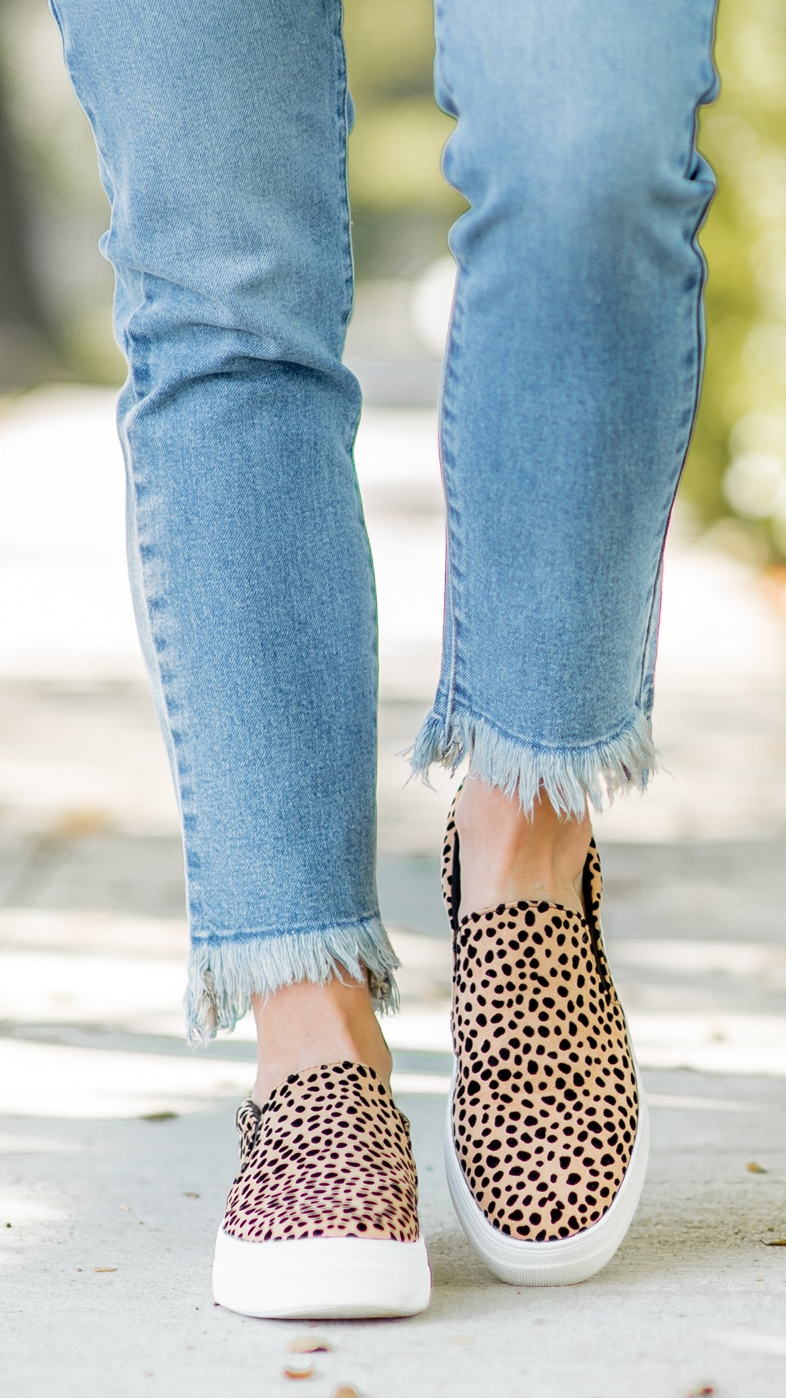 Leopard Slip on Platform Sneakers