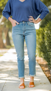 Super High Rise Straight Leg Jean